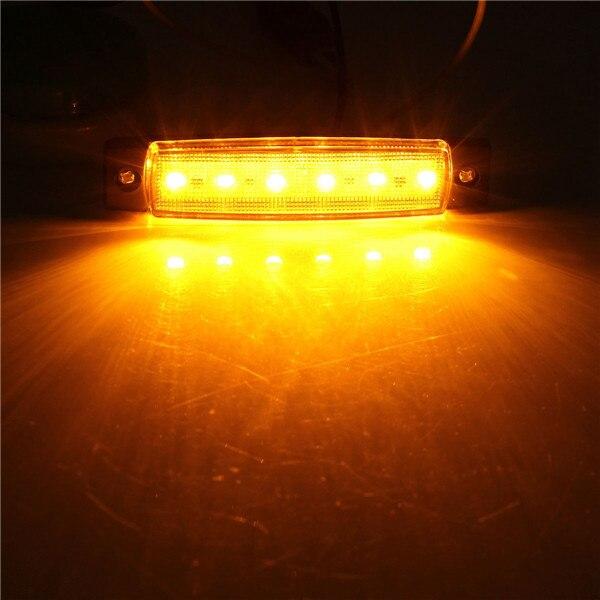 Новые 1 шт. 24 В 6 SMD LED авто Камион lato marcatore Indicatore Luce лампада Rosso NUOVO