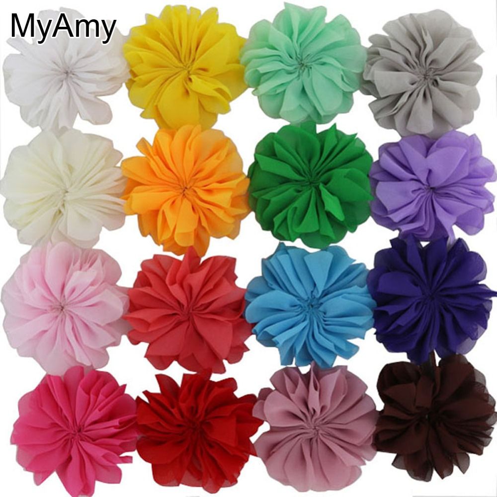 MyAmy 60pcs 3.2 Inches Fabric Chiffon Felt Flowers Ballerina Flowers For Hair Headbands Kids Girls Children Kids Teens 60 hanks stallion violin horse hair 7 grams each hank 32 inches in length