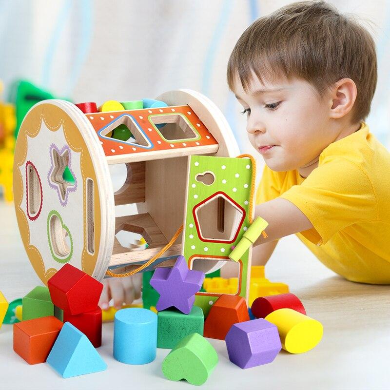 1 pièces bébé éducation précoce jouet éducatif bébé bloc de construction forme match garçons et filles éducation précoce