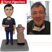 Custom Bobblehead Personalized Husband Boyfriend Gift Figurines Based on Customers Photos BF Birthday Cake Topper Bd