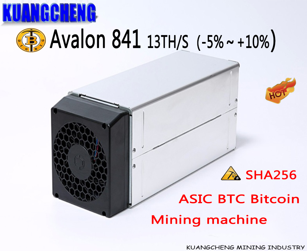 KUANGCHENG Brand new miner Avalon 841 13T SHA256 ASIC BTC Bitcoin Mining machine A841 13Th/s(China)