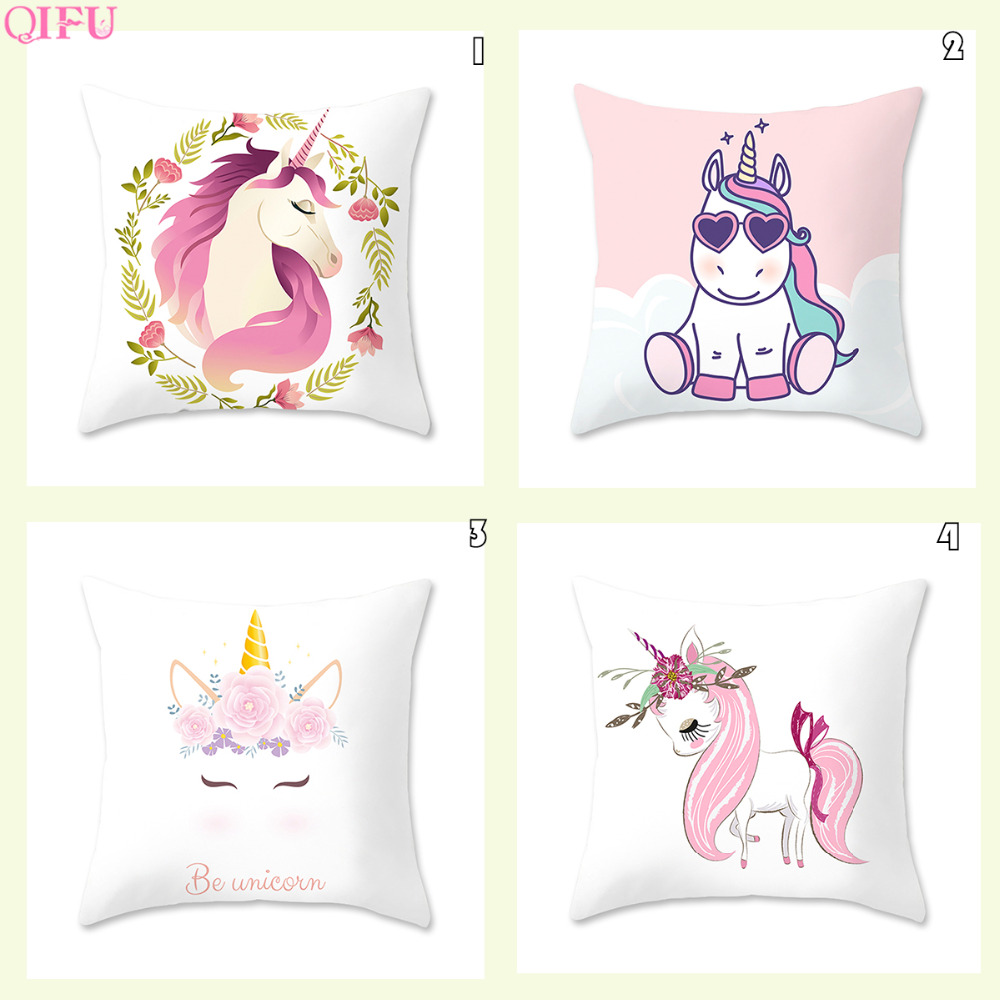 Cotton Peach Skin Unicorn Pillow Case Deco Party Unicorn Party Supplies Gift Unicorn Birthday Decorations Accessories Unicornio in Party DIY Decorations from Home Garden
