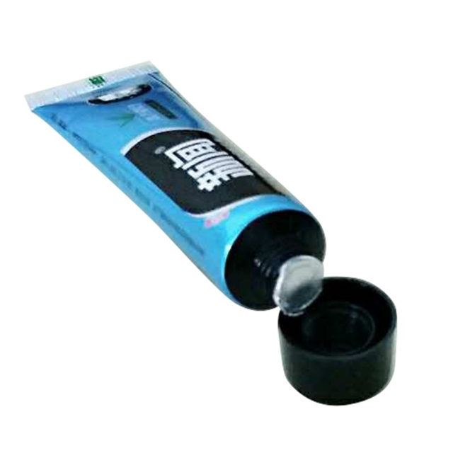 Traveling Toothpaste Pure Fresh Green Tea Scent Bamboo Charcoal All-purpose Whitening  Black Toothpaste
