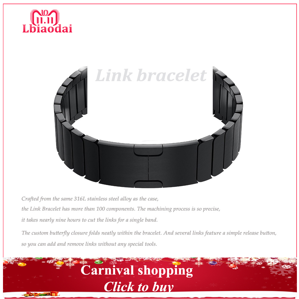 Stainless steel strap for Apple Watch Band 42mm 38mm 44mm 40mm Link Bracelet wrist watchband correas belt iwatch series 4/3/2/1 цена