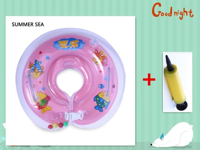 Hot Sale Infant Swimming Neck Float Donut Pool Floats For Baby Swim ...