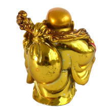 Happy Laughing Buddha Statue with Wealth Coin Bag