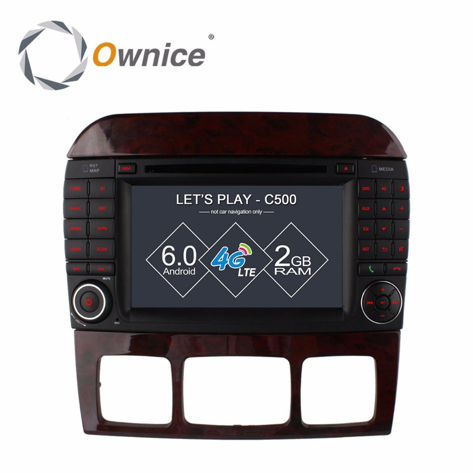 Ownice C500 Android 6.0 Quad Core Car DVD Player for Mercedes S Class W220 S280 S320 S350 S400 S420 S430 GPS Navi Radio wifi 4G