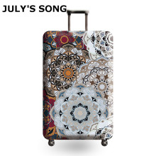 JULY'S SONG Vintage Elastic Thickest Luggage Cover for Trunk Case Apply To 18''-32'' Case Suitcase Protective Cover