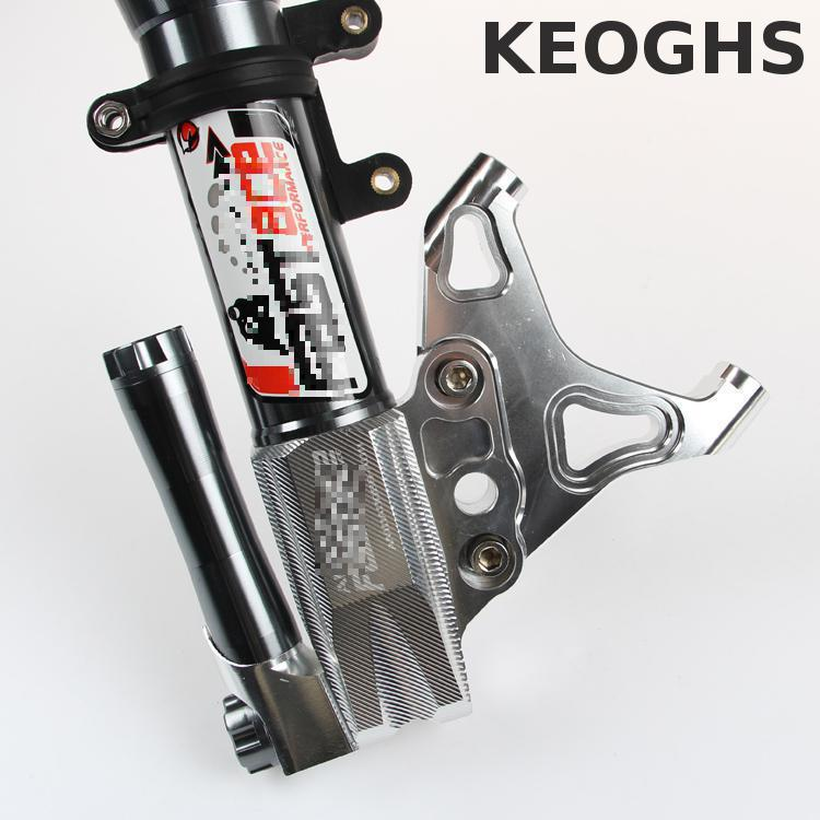 Keoghs Motorcycle Brake Caliper Bracket For 100mm Brake Caliper For 220/260mm Brake Disc For Fastace 30mm Front Shock Cnc Work keoghs motorbike rear brake caliper bracket adapter for 220 260mm brake disc for yamaha scooter dirt bike modify