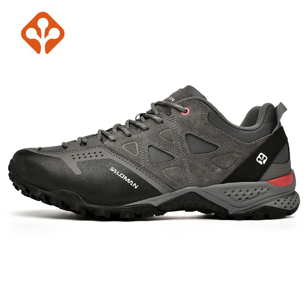 SALAMAN Men s Leather Outdoor Trekking Hiking Shoes Sneakers For Men Sport Climbing Mountain Tracking Shoes