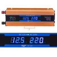 2200W Automobiles Power inverter DC 12V AC 220V Car Charger Converter 12 Volts to 220 Volts USB 5V 1A 50Hz CY894