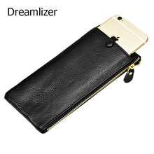 New Arrival Women Leather Clutch Wallet Long Zipper Bag for Female Cellphone Purse Genuine Lady Card Holder