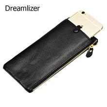 цена New Arrival Women Leather Clutch Wallet Long Zipper Bag Wallet for Women Female Cellphone Bag Purse Genuine Lady Card Holder