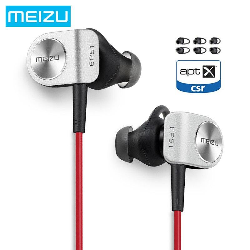 Meizu ep51 спортом Бег Наушники Беспроводной Bluetooth наушники-вкладыши водонепроницаемый aptX с микрофоном вкладыши для apple meizu xiaomi