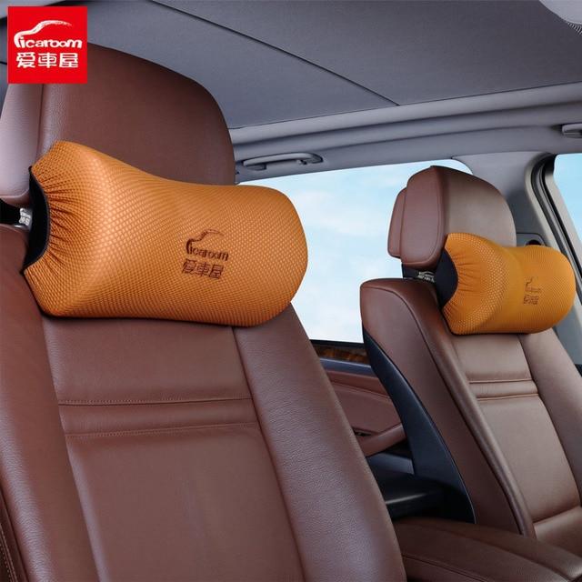 ICaroom Car Seat Neck Pillow Space Memory Foam 3D For BMW Auto Headrest