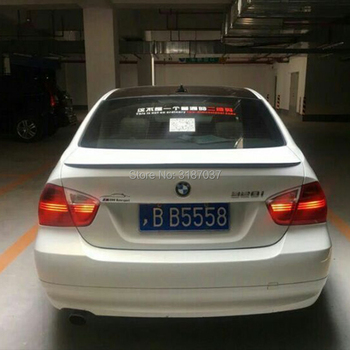 For BMW E90 Spoiler 318i 320i 325i FRP fiberglass Unpainted Rear Roof Spoiler Wing Trunk Lip Boot Cover Car Styling image
