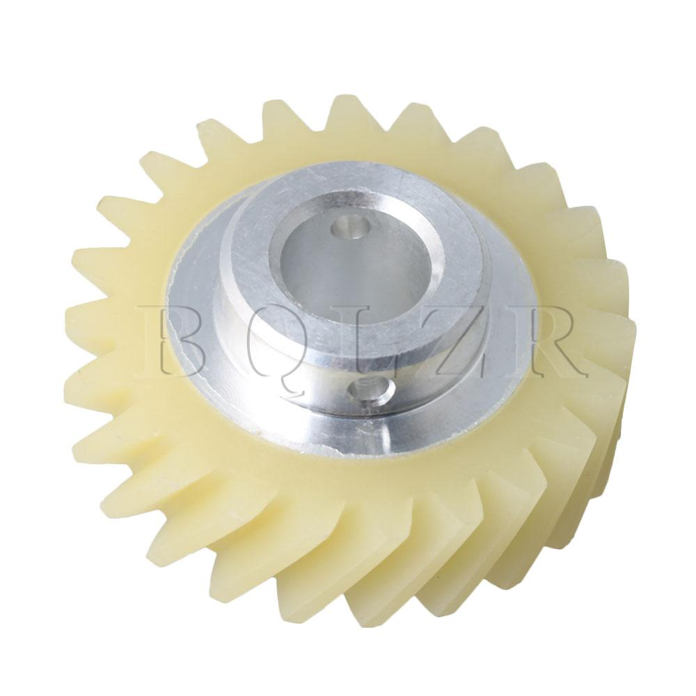 BQLZR 36.5x9.5x9.5mm Beige Plastic & Metal W10112253 Mixer Drive Spare Kit Worm Gear Replace Part AP4295669 4162897