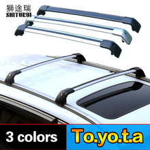 Roof rack/roof bar rail (cross beam) for Toyota Fortuner 2016-2018 thicken aluminum thicken, car roof bike frame.