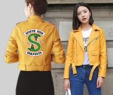 BF 2019 Riverdale Women PU Leather Jacket Fashion Motorcycle Short Southside Serpents Artificial Coat