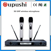 Handheld FM Singing Mics Cordless Karaoke USB X6 Microphone