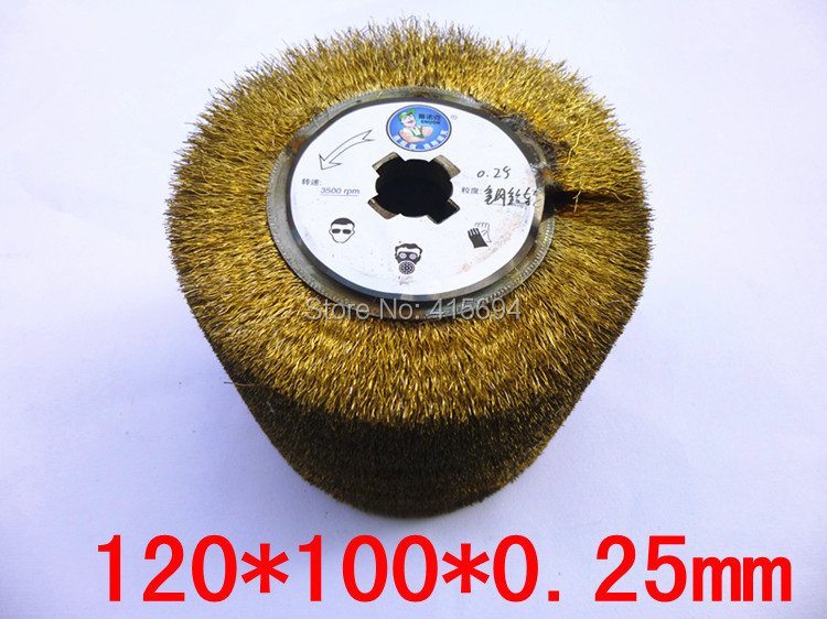 Steel Wire polishing wheel of Electric wire drawing polishing machine for scar and burr polishing treatment.
