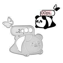 Eastshape Metal Cutting Dies Scrapbooking  Card Making DIY Embossing Die Cut New Craft Butterfly and Cute Panda