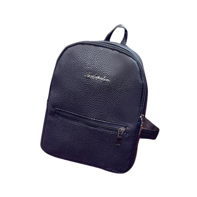 women bag Girls Leather School Bag Fashion Travel Backpack Satchel Women  Shoulder Rucksack backpack female mochila feminina A8 58990290be1dc
