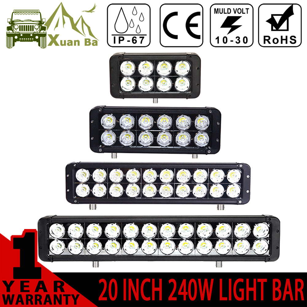 XuanBa 10W*Led Light Bar 24V Combo Beam For 4x4 Off road ATV SUV Boat Tractor Truck 12V 180W Driving bar Lights Led Work Lamp xuanba 4d 120w led work light bar 180 spot flood combo beam for 4x4 offroad atv suv tractor truck 12v 240w driving barr lights