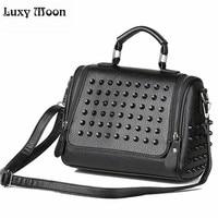 2015 Early Autumn Women Rivet Shoulder Bag High Quality PU Leather Handbags Female Messenger Bag Small