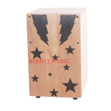 Afanti Music Birch Wood / Natural Cajon Drum (KHG-159)