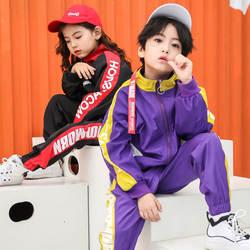 Малыш Одежда в стиле хип-хоп одежда джаз танец костюм куртка для бега Топы Jogger брюки для мальчиков и девочек Бальные Танцы уличная