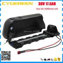 Бесплатная таможенной пошлины 36 В 17.5AH EBike батареи 36 В 17AH литиевая батарея использовать NCR18650GA 3500 мАч ячейке с 30A BMS с 42 В 2A Зарядное устройство