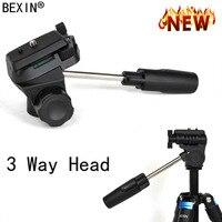 BEXIN Aluminum 3 Way Fluid Head Rocker Arm Video Tripod Ball Head 360 Panoramic Head for DSLR Canon Nikon Sony Monopod Tripod