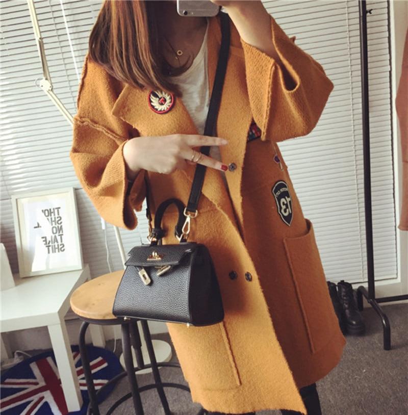 Nice orange Nouveau Gray Tricoté Ponchos Femme Hiver Épais Femmes A258 Long red Mode Cardigans Cardigan Chandail Casual Manteaux Printemps white Mince De WSEBS