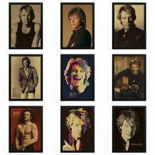 Bon Jovi Vintage Retro rock band musik Gitarre Matte Kraftpapier Antikes Plakat Wandaufkleber Home Decora
