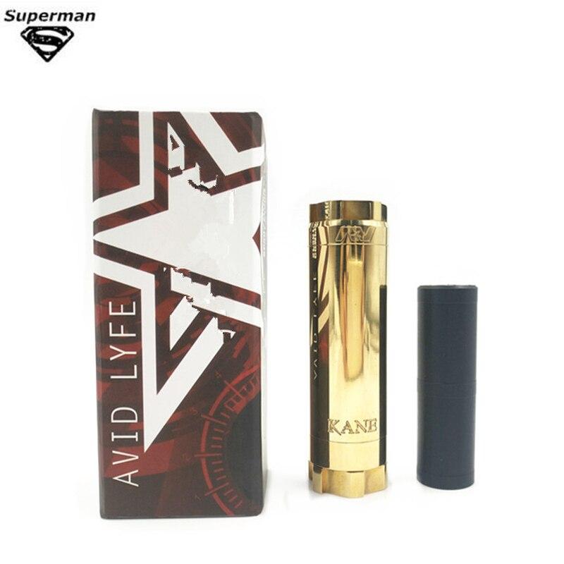 2019 Nouveau AVID LYFE KAEN Mécanique Mod Corps En Laiton Électronique Cigarette Fit 20700 18650 Batterie Pour RTA RDA Réservoir Mech mod