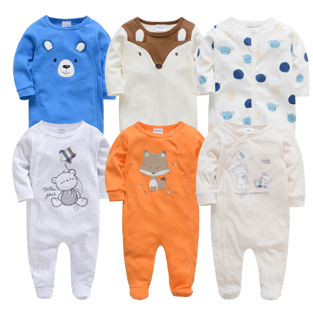 2019 6 Pcs/lot Baby Rompers Roupa De Bebes Newborn Baby Boys Girls Clothes Summer Cotton Romper 0-12 Months Infant Clothing