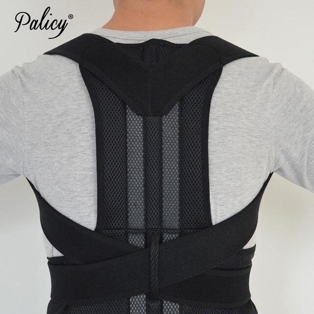 Palicy Neoprene Shapewear For Men Bodysuit Corset Male Back Lumbar Sauna Suit Brace Strap Vest Belt Cincher Posture Corrector 2