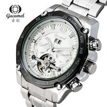 GUCAMEL Top Brand Tourbillon Men Watch Automatic Business Stainless Steel Male Wristwatch Waterproof Hodinky Relogio Masulino
