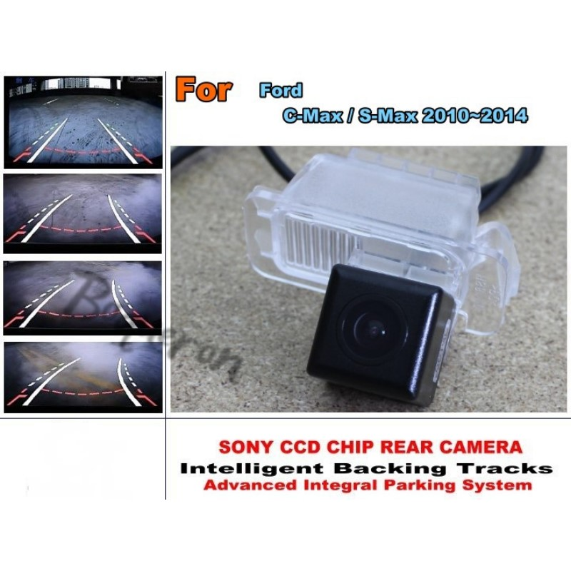цена на For Ford C-Max / S-Max 2010~2014 Car Intelligent Parking Tracks Camera / HD Back up Reverse Camera / Rear View Camera