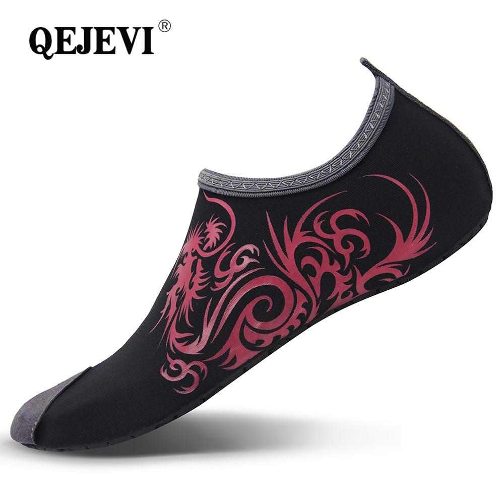 098520138a90 2018 QEJEVI Women Men Barefoot Water Shoes Online Summer Quick Dry Walk GYM Swim  Aqua Beach Sneakers Slip on Footwear High Soft
