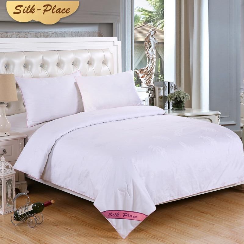SILP PLAATS Wit Zijde Dekbed Dekbed Dekbedden Voor Beddengoed Kinderen Vier Seizoenen Airconditioning Dekbedden Deken Uitverkoop Kingsize