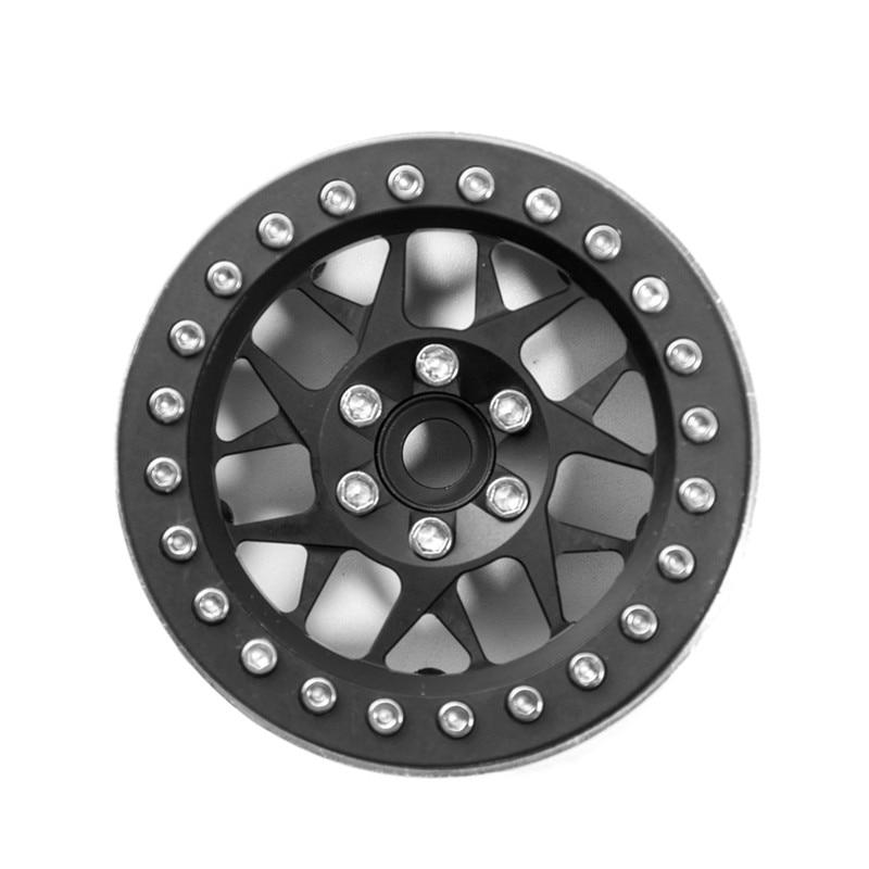 1PC 2.2 Inch Thicker Alloy Beadlock Wheel Rims RC 1:10 Rock Crawler Wheels Rims Hub For RC Crawler Axial SCX10 Wraith 90018 2 2inch wheel rims for wraith rc4wd 8 spoke alloy beadlock 1 10 crawler car 2 2 wraith wheels high quality