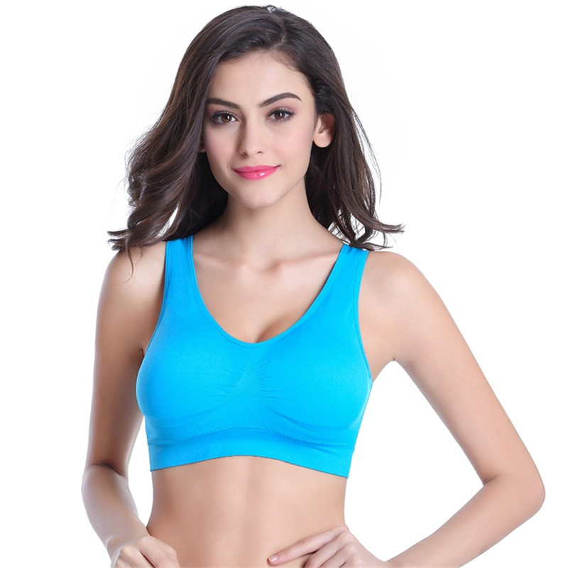 d1f6422df4a Dropshipping Hot Sale 2018 Women Girls Padded Seamless Bra Vest Tops  Fitness Building Rimless Bras Plus Size 3XL-in Tank Tops from Women s  Clothing on ...