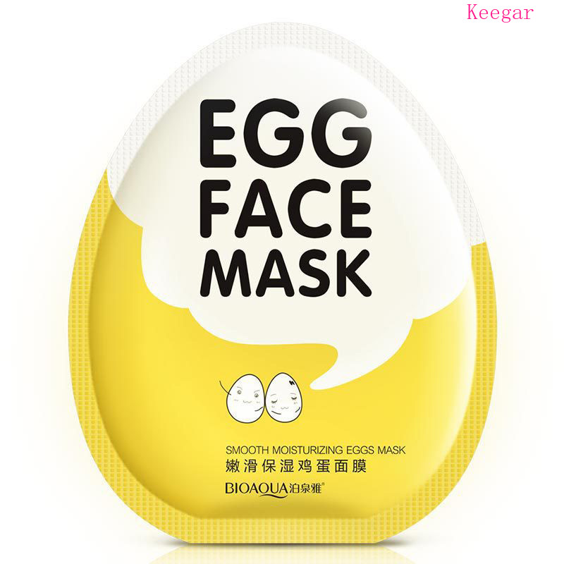 Bioaqua Egg Essence Facial Mask Smooth Moisturizing Face Mask Oil Control Shrink Pores Whitening Brighten Mask Skin Care