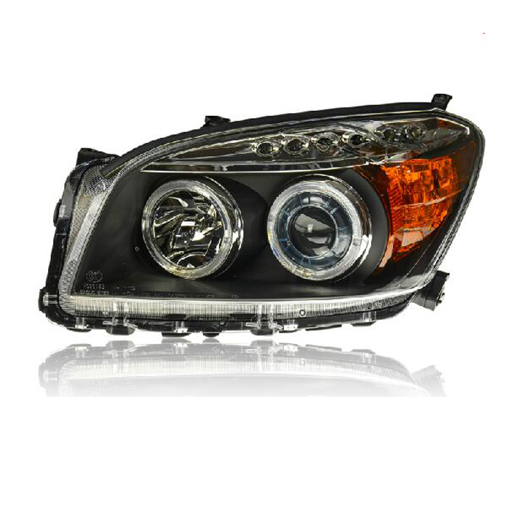 Double Angel Eyes LED Bi-xenon Projector Lens Headlights For <font><b>Toyota</b></font> <font><b>RAV4</b></font> 2009-2011 image