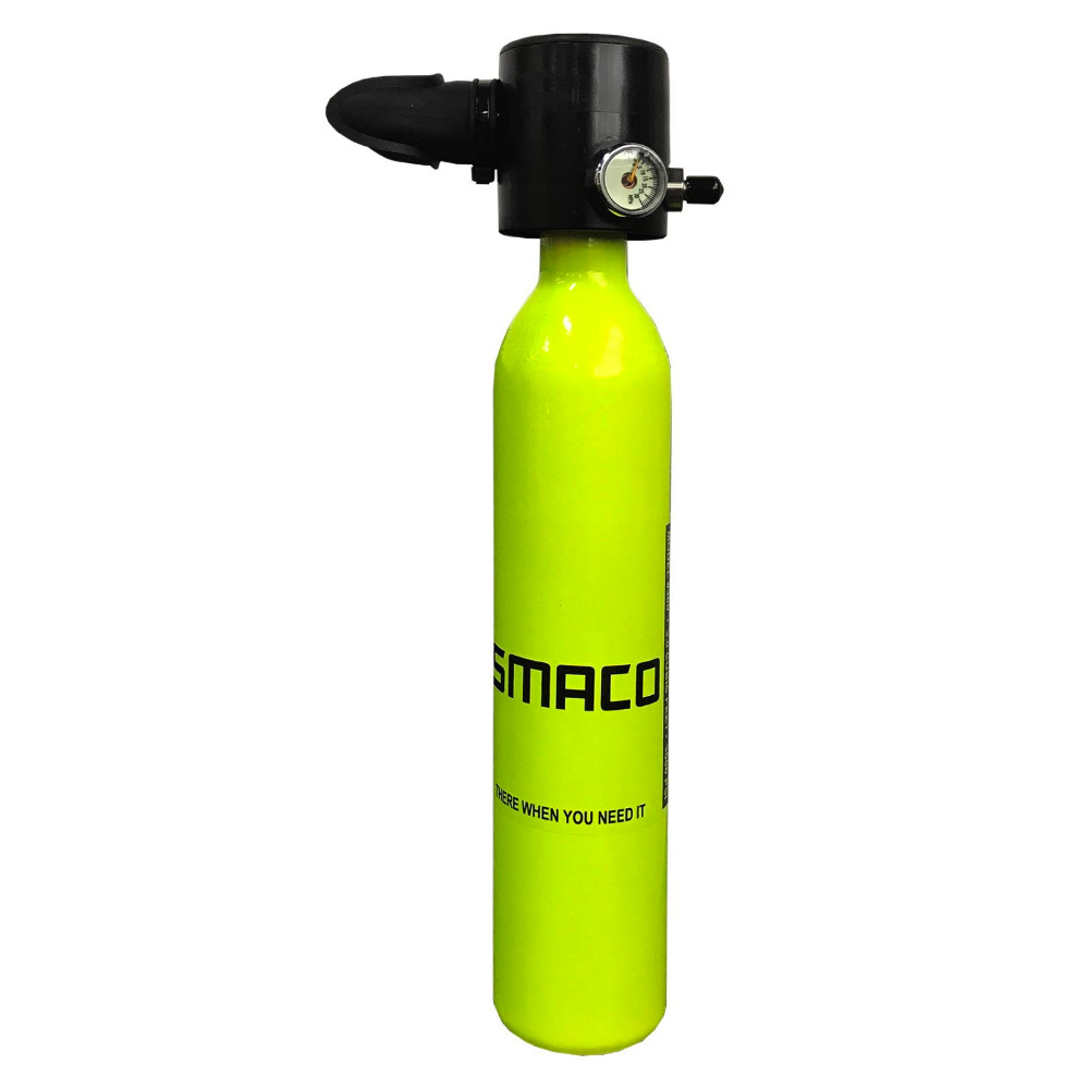 SMACO Marque 0.5L Mini Plongée Cylindre D'oxygène Plongée Sous-Marine Réservoir 3000psi/200bar Aviation en aluminium Plongée Réservoir D'oxygène Équipement de Plongée
