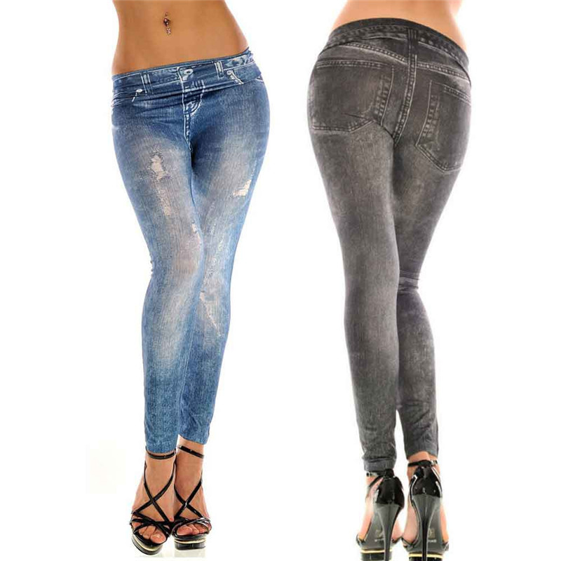 Dropship 2019 New Fashion Sexy Women Skinny Colorful Jeggings Stretchy jeans Sof