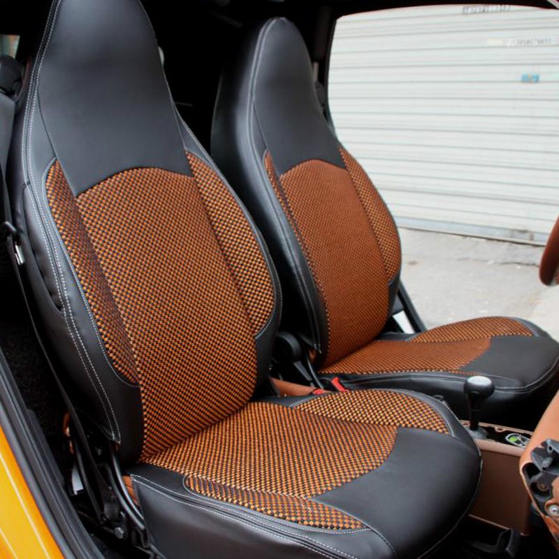 CARTAILOR Automobiles Seat Covers Custom Fit For BENZ Smart Cover Car Seats Protector Black Cushions Accessories Airbag In