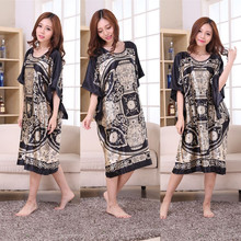 20 Colors Time-limited Summer Style Women Nightgown New Arrived Robe Sleepwear Indoor Clothing Faux Silk Robe Home Bathrobe(China)